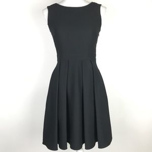 Kate Spade Black Back Bow Dress Pleated